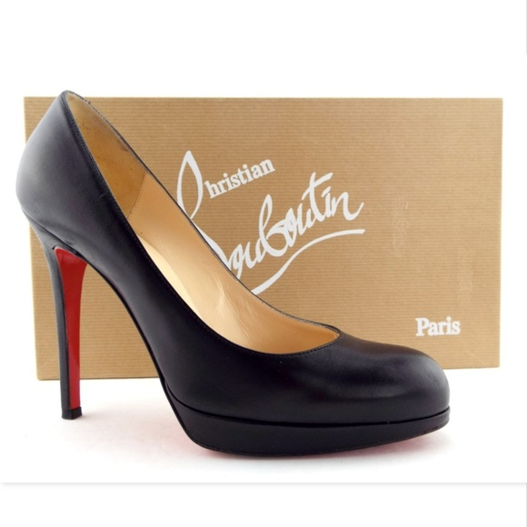 fashion style outlet store sale pick up CHRISTIAN LOUBOUTIN Black Platform Heel Pumps 36.5
